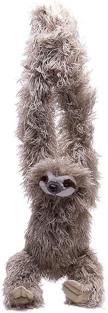 Wild Republic - Hanging Sloth, Perezoso de Peluche con Velcro, 44 cm (16387)