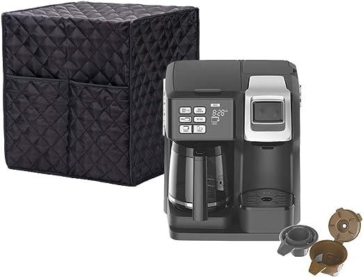 Funda para cafetera con bolsillos, a prueba de polvo y protege tu café Machion – también se utiliza como funda Standmix, funda para exprimidor, decoración del hogar para tu encimera: Amazon.es: Hogar