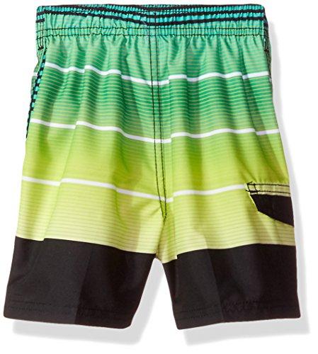 f808f56c1a Kanu Surf Boys' Toddler Echelon Stripe Quick Dry Beach Board Shorts Swim  Trunk, Black