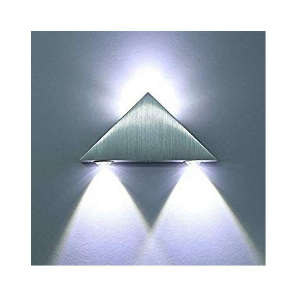 Louvra Applique Murale LED 3W Int/érieure Lampe Moderne D/écorative Cr/éatif /Éclairage Design Lumiaire en Aluminium pour Chambre Maison Couloir Salon Blanc Froid Bar KTV
