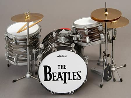 Baby Axe Beatles Ringo Starr Ludwig Miniature Ornamental Drum Kit