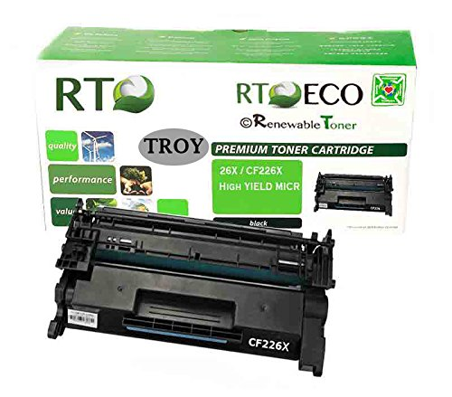 Renewable Toner Compatible MICR High Yield Toner Cartridge Replacement for HP CF226X 26X Troy 02-81576-001 M402 M426
