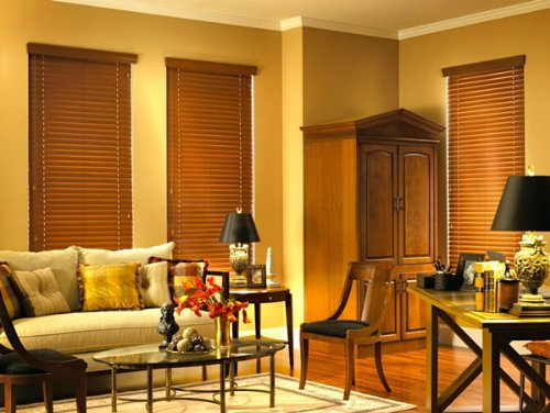 Express Faux Wood Blinds (Express 2 Inch Composite Blinds 72 In X 60 In Pecan)