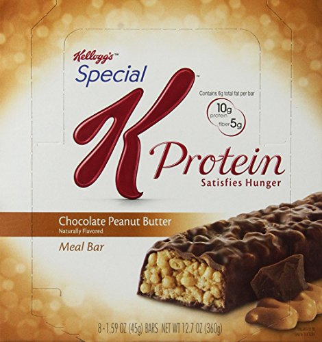 Special K Protein Meal Bar, Chocolate Peanut Butter (1.59-Ounce), 8-Count Bars (Pack of 2) Review