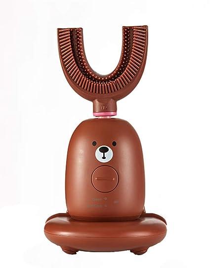 HYFZY Cepillo de Dientes eléctrico para niños, Cepillo de Dientes automático Inteligente para niños,