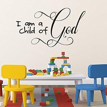 Children 39 S Room Christian Wall Art Wall Sticker I Am A Child Of God Home Kitchen