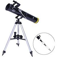 GEERTOP 70076 EQ Réflecteur Astronomique Télescope avec Trépied Portable Réglable Adaptateur pour Débutants Enfants Amateurs - Adapté aux Caméras