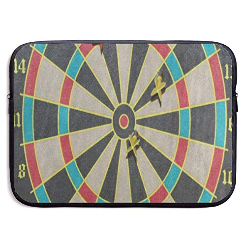 Funny Design Great Color Dartboard Laptop Sleeve Waterproof Neoprene Diving Fabric Protective Briefcase Laptop Bag for IPad, Notebook/Ultrabook/Acer/Asus/Dell ()