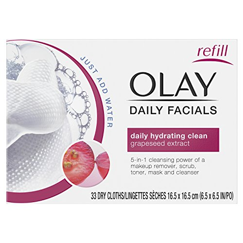 Olay 4-In-1 Daily Facial Cloths, Normal Skin 33 Count, Packa