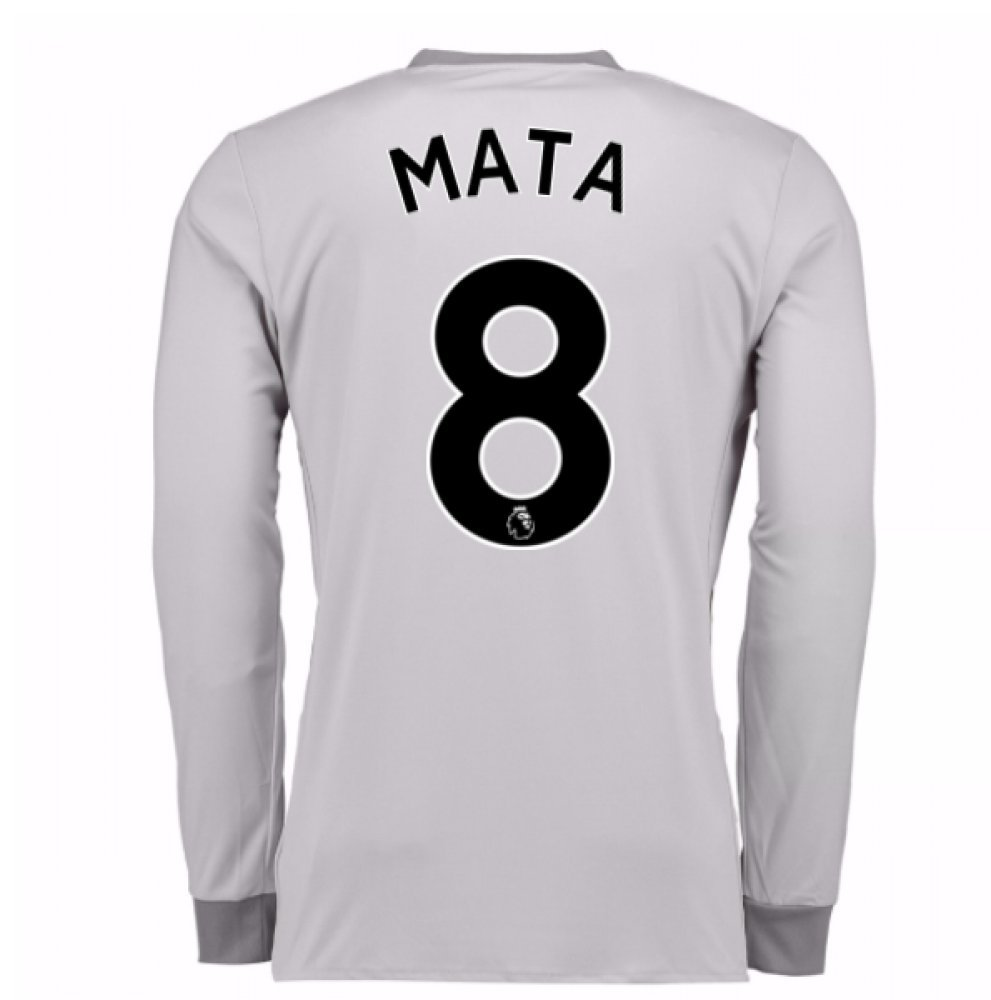 2017-2018 Man United Long Sleeve Third Football Soccer T-Shirt Trikot (Juan MATA 8)