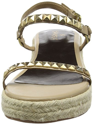 Tantra Leather Espadrille Wedge Sandals with task - Sandalias para mujer Beige