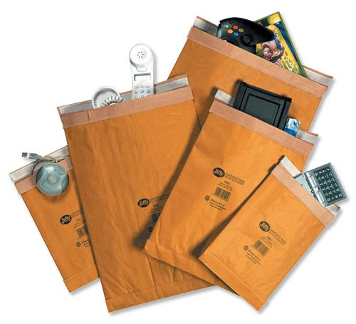 Jiffy Padded Bag Envelopes No.2 Brown 195x280mm Ref JPB-2 [Pack of 100]