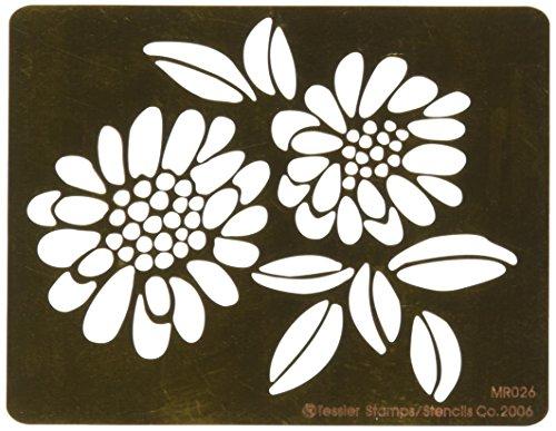 Embossing Queen Flower #7 Brass Stencil, 4.5