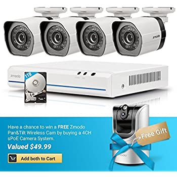 Amazon Com Zmodo Full Hd 1080p Simplified Poe Security