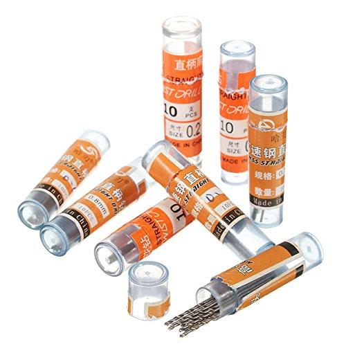 ChaRLes 10Pcs 3.175 mm Caña 0.2-0.9 mm Hss Brocas Helicoidales - 0.6 Mm