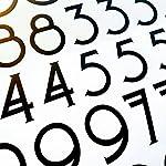 Craftsman Style Die Cut Vinyl Numbers