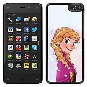 A-type Arte & diseño plástico duro Fundas Cover Cubre Hard Case Cover para Amazon Fire Phone (Cartoon Character Kids Children'S Ponytail)
