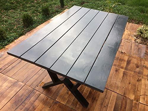 Générique Mesa de jardín de 150 cm x 92 cm x 3 cm, Roble de ...