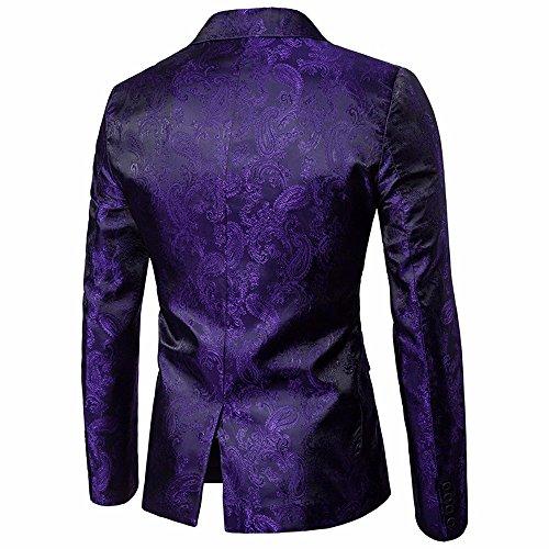 Pourpre Homme Costume Strir Veste ropa De wq8nfaz