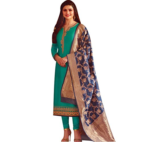 8cb9ac91d1 Designer Wedding Partywear Silk Embroidered Salwar Kameez Indian ...