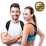 Aldtex Adjustable Back Brace Support for Men & Women| Discreet Breathable Brace for Upper & Lower Back Pain Relief-Top Comfortable Brace for Clavi (Black)