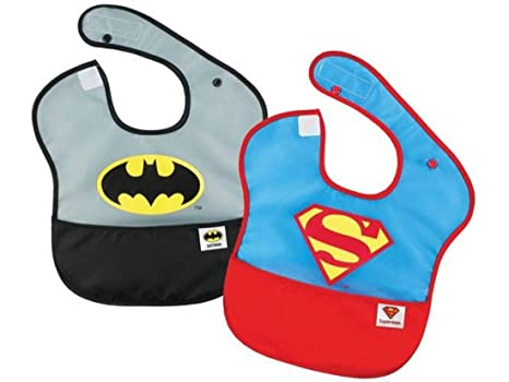 MOLTO Superman y Batman - Pack dos baberos