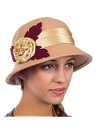 Sakkas Farrah Vintage Style Wool Cloche Hat