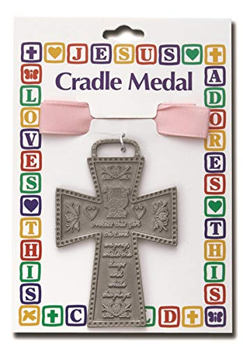 Protect This Child Baby Girl Cradle Medal 3 Inch