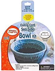 Basket Craft Kit – Includes Paper Coiling Cord, Weaving Materials (Yarn or Fabric), Instructions, and a Plastic Needle