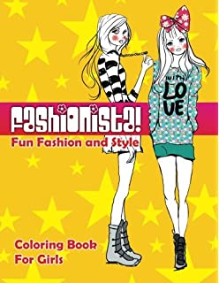 fun fashion style coloring book for girls fashion other fun coloring - Coloring Books For Girls