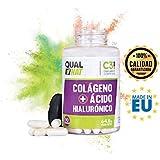Colágeno con ácido hialurónico para una piel sana – Colágeno con vitamina C y zinc para ayudar a mejorar la elasticidad y salud de huesos y articulaciones - 90 cápsulas