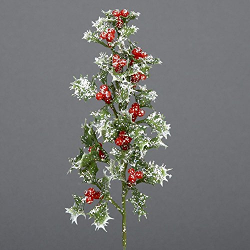 KSA Club Pack of 72 Glittered Holly and Berry Christmas Picks (Glittered Holly)