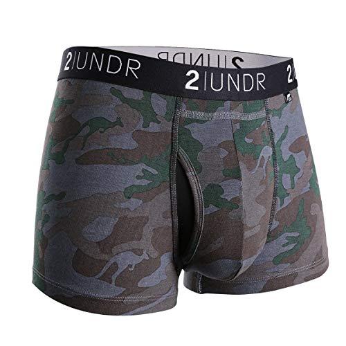 2UNDR Mens Swing Shift Trunk Boxers,Dark Camo,Small