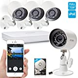 Zmodo 720P HD Home Security Camera System 4 x 720P Outdoor Night Vision Surveillance Camera 1TB Hard Drive