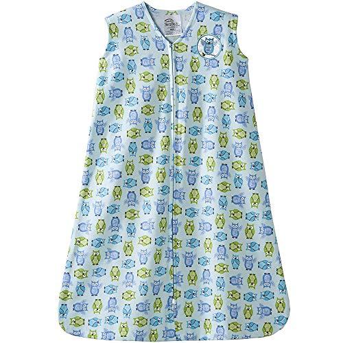 Halo Sleepsack Cotton Wearable Blanket, Turquoise Owl Print, Medium -