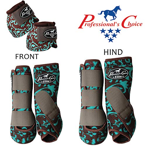 Professional Choice 6 Pack Medium Horse Sports Front HIND Bell Boots by Professional Choice (Image #1)