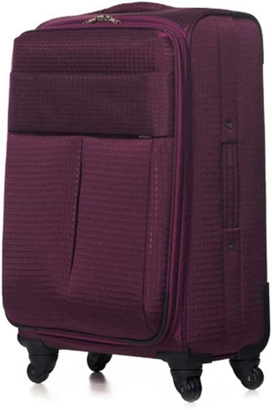 Color : Purple, Size : 20 inches Travel Trolley Case Suitcase Spinner Hand Luggage Check-in Hold Luggage Expandable Strong Lightweight Oxford Cloth Soft Box Travel Cloth Box GAOFENG