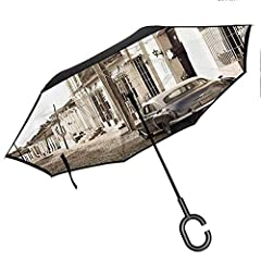 Get in and out without getting wetThe Inverted Umbrella, with its reverse opening mechanism, opens outdoors while you're still indoors or inside of your car. This practical configuration ensures that you stay dry and look impeccable even afte...