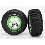 KM2 Tires & SCT Wheels - Assm (2):FR 2WD Slash Only by Traxxas
