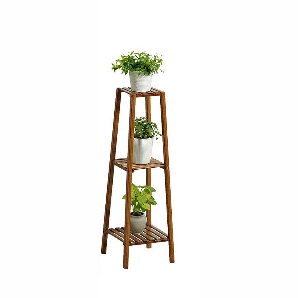 Medium Gifts & Decor Plant Stand Shelf Flower Racks Bamboo Flower Stand Indoor Balcony Flower Stand Multi-Layer Floor Shelf Three-Dimensional Flower Stand (Size   Medium)