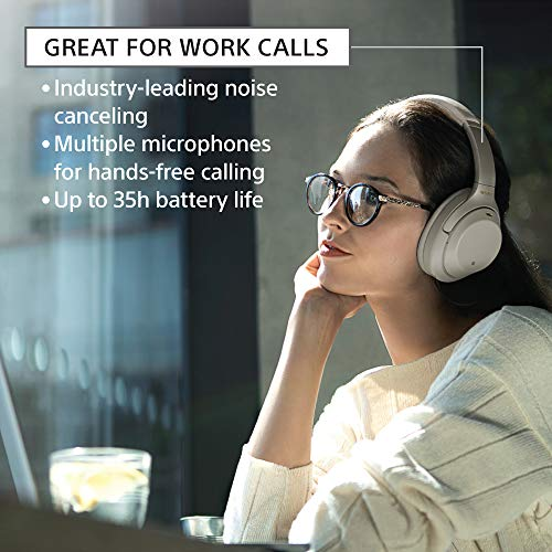 Sony Noise Cancelling Headphones WH1000XM3: Wireless Bluetooth Over the Ear Headset with Mic for phone-call and Alexa Voice Control - Industry Leading Active Noise Cancellation – Black