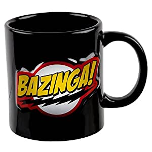 ICUP Big Bang Theory Bazinga Embossed Ceramic Mug, 20 oz, Clear