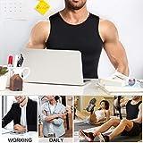 Mens Compression Shirt Slimming Body Shaper Vest