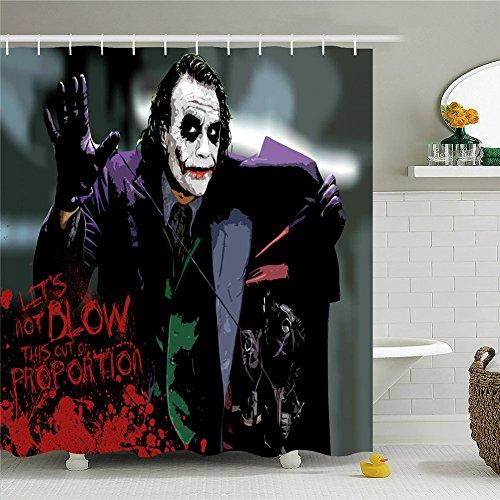 Joker Shower Curtain-Polyester Waterproof Shower Curtain - Bathroom Accessories,69