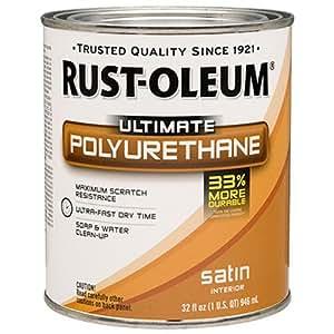Rust-Oleum 260163 Ultimate Polyurethane, Quart, Satin