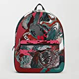 Society6 Backpack, The Fish Art Collector - Pink by Hubert_fine_Art, Standard Size
