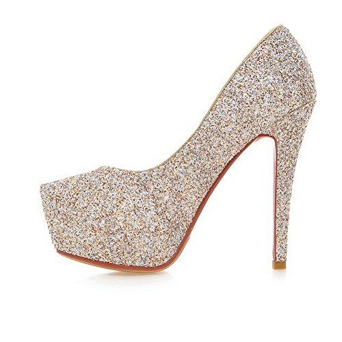 Balamasa Girls Lentejuelas Plataforma Stiletto Frosted Pumps-Zapatos Gold