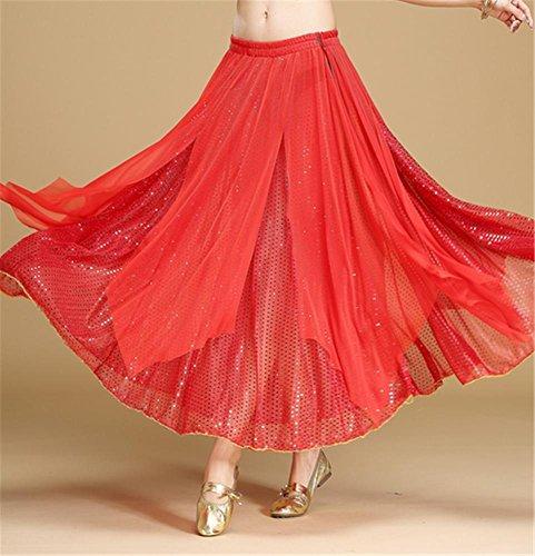 ventre de Jupe grande de la red du danse jupe femme jupe danse de rpnxqr1w
