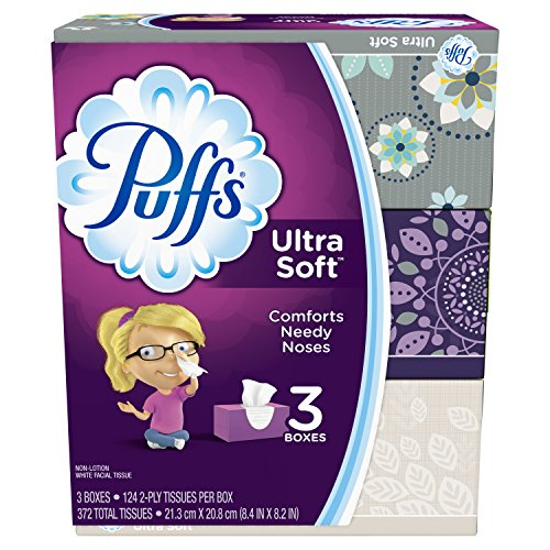 - Puffs Ultra Soft Facial Tissues-124 ct, 3pk (Packaging may vary)