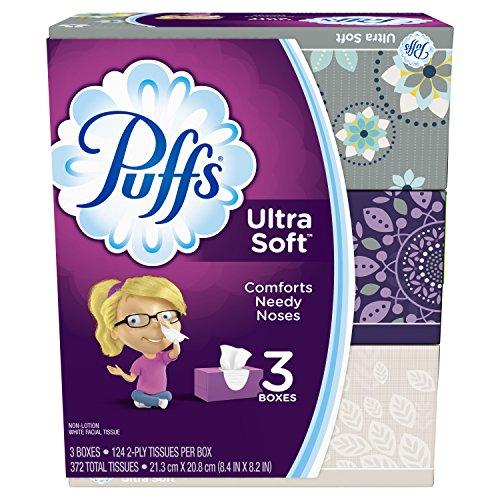 (Puffs Ultra Soft Facial Tissues-124 ct, 3pk (Packaging may vary))
